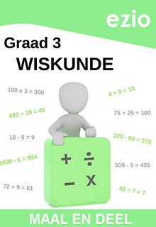 EZIO WISKUNDE GRAAD 3 MAAL & DEEL WERKBOEK
